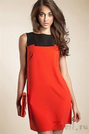 Платье-туника мини, белая - фото 560