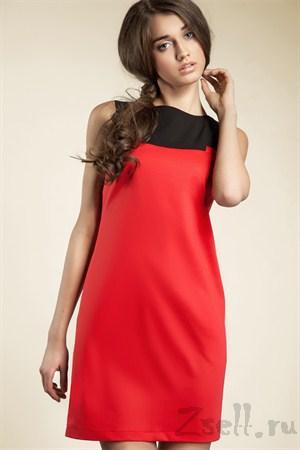 Платье-туника мини, белая - фото 561