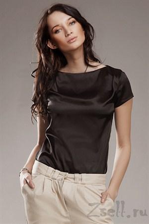 Блуза красная без застежек - фото 628