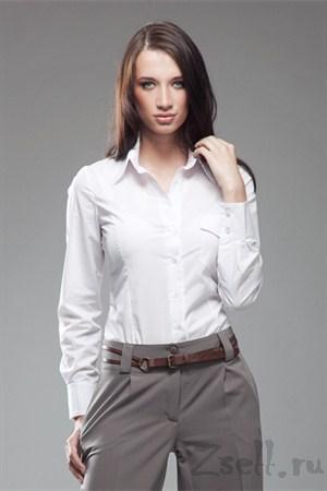 Рубашка белая классическая - фото 646