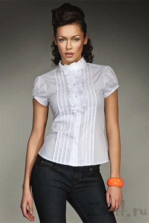 Блуза на лето белая - фото 1134