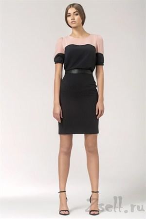 Черно-розовая летняя блузка - фото 1348