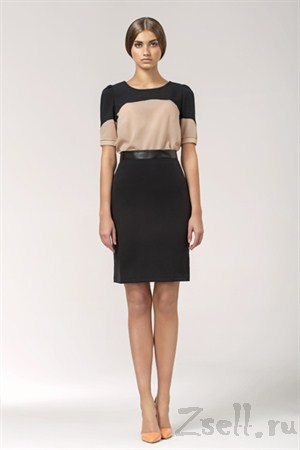 Черно-розовая летняя блузка - фото 1349