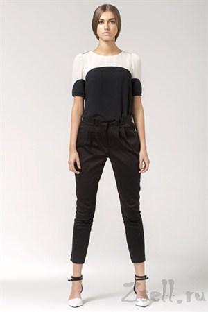 Черно-розовая летняя блузка - фото 1350