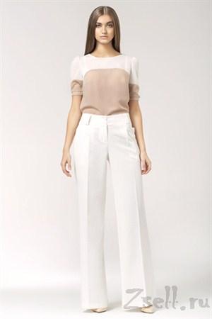 Черно-розовая летняя блузка - фото 1351