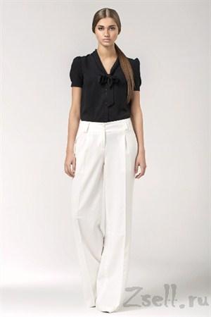Элегантная бежевая блуза - фото 1357