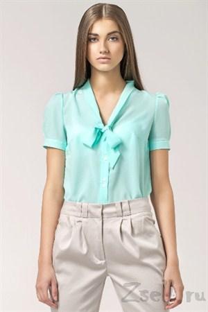 Элегантная бежевая блуза - фото 1359