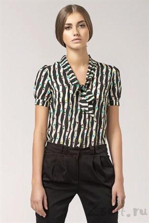 Элегантная бежевая блуза - фото 1360