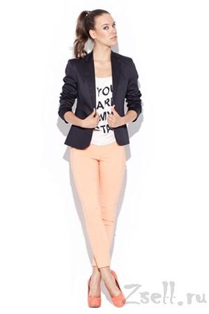 Узкие брюки-стрейч мятного цвета - фото 1512