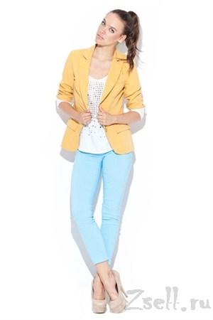 Узкие брюки-стрейч мятного цвета - фото 1513