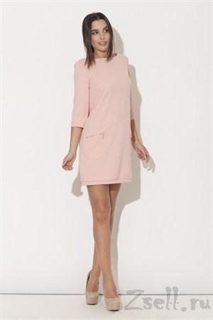 Платье туника, цвета аквамарин - фото 2077