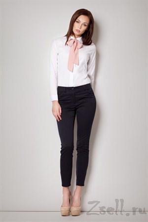 Белая рубашка с черным бантом - фото 2101