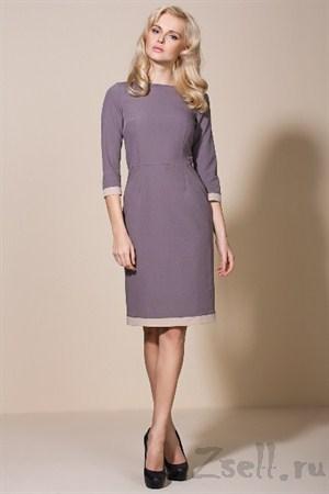 Утонченное платье, цвета мокко - фото 2147