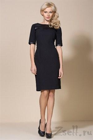 Деловое черное платье - фото 2198