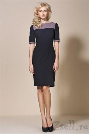 Деловое черное платье - фото 2199