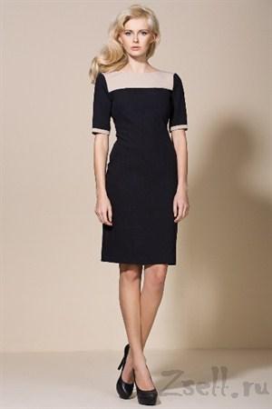 Деловое черное платье - фото 2203