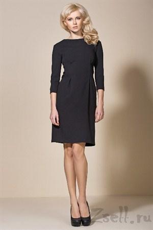 Черное платье - тюльпан - фото 2240