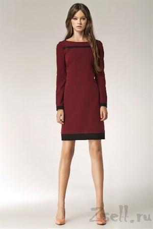 Черное платье с модным принтом - фото 2546