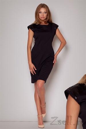 Черное платье с паетками - фото 2598