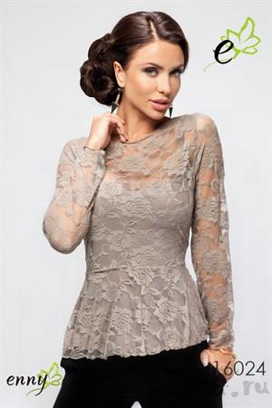 Нарядная кружевная блуза - фото 2752