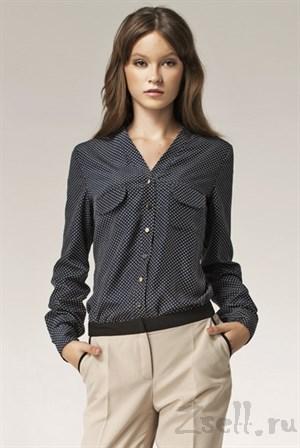 Изысканная блуза в горох - фото 2874