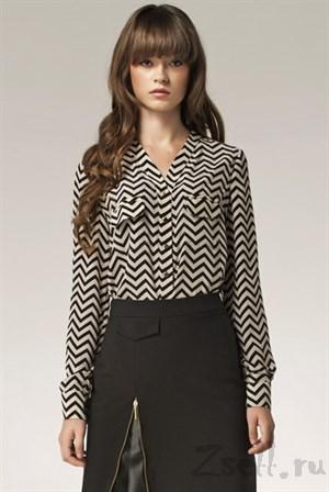Изысканная блуза в горох - фото 2875