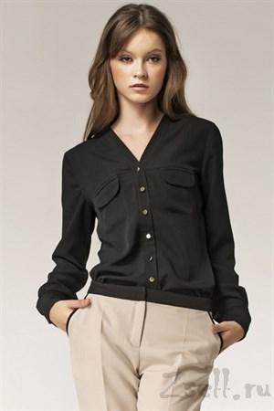 Изысканная блуза в горох - фото 2876
