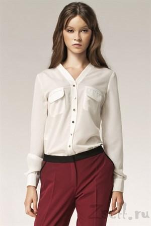 Изысканная блуза в горох - фото 2877