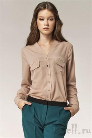 Изысканная блуза в горох - фото 2878