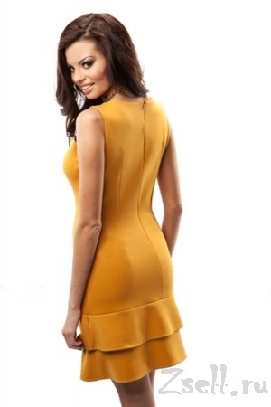 Кокетливое желтое платье-мини - фото 3044