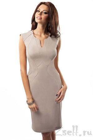 Элегантное платье футляр - фото 3067