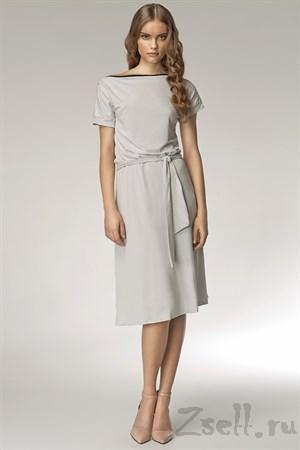 Платье на каждый день с  припущенным плечом - фото 3284