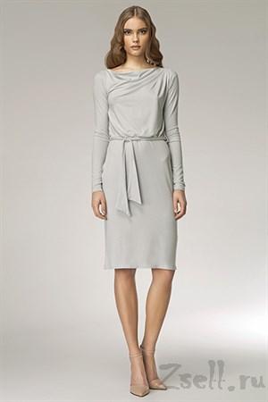 Лаконичное платье с длинным рукавом - фото 3288