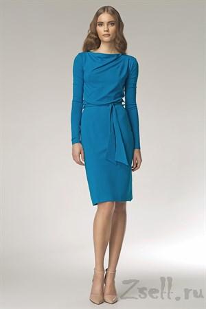 Лаконичное платье с длинным рукавом - фото 3289