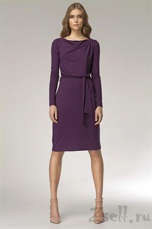 Лаконичное платье с длинным рукавом - фото 3290