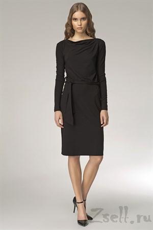 Лаконичное платье с длинным рукавом - фото 3291