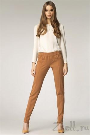 Стильные узкие брюки - фото 3293