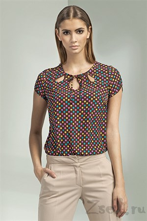 Пестрая летняя блуза - фото 3348