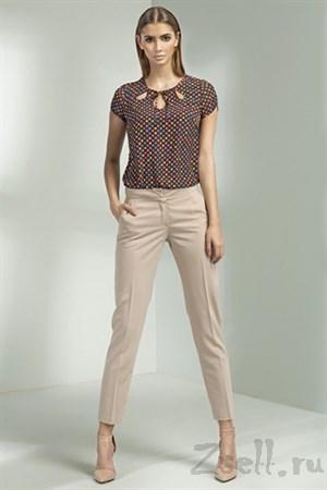 Пестрая летняя блуза - фото 3349