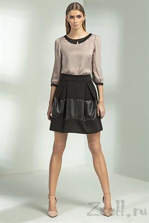 Черная юбка-тюльпан - фото 3374