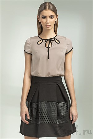Черная юбка-тюльпан - фото 3375