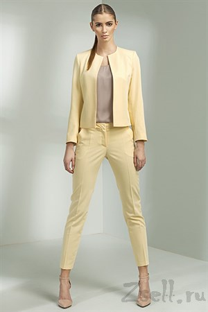 Ярко желтые узкие брюки - фото 3377