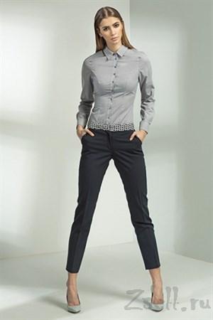 Женственная серая рубашка - фото 3393