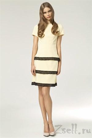 Коктейльное платье футляр - фото 3466