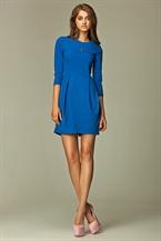 Платье тюльпан синее на каждый день