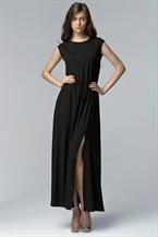 Длинное черное платье на вечер