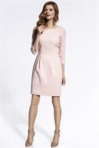 Коктейльное платье нежно-розового оттенка