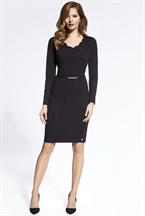 Модное черное платье на каждый день