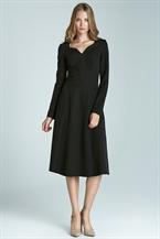 Черное платье с длинными рукавами Nife