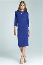 Синее облегающее платье Nife